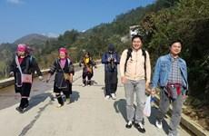 Dinámicas actividades en puertas fronterizas en Lao Cai en Nuevo Año Lunar