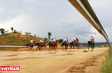 Hipódromo de Thien Ma Madagui en Lam Dong