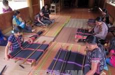Fundación japonesa ayuda etnia vietnamita en preservación de oficio de tejer brocados