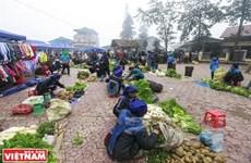 Mercado rural Y Ty, sitio favorito para comprar productos de grupos étnicos en Vietnam