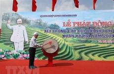 Máximo dirigente político de Vietnam inaugura festival de cultivación de árboles