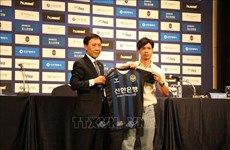 Presenta club surcoreano Incheon United  al  futbolista vietnamita Cong Phuong como su nuevo fichaje