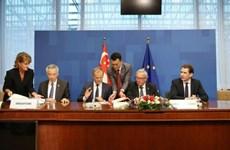 Aprueba UE aplicación de tratado de libre comercio con Singapur