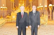 Máximo dirigente de Vietnam se reúne con rey de Camboya