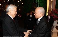 Máximo dirigente político de Vietnam confía en el desarrollo incesante de nexos con Camboya