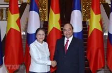 Recibe premier vietnamita a presidenta de Asamblea Nacional de Laos