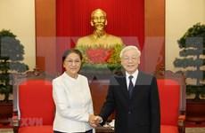 Máximo dirigente político vietnamita propone mayor cooperación legislativa con Laos