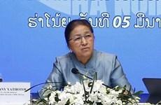Visita presidenta del Parlamento de Laos sede de importante compañía vietnamita