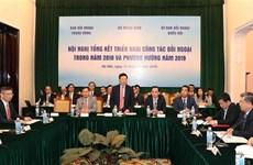 Pide vicepremier de Vietnam acelerar actividades de relaciones exteriores en 2019