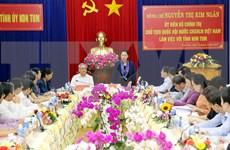 Insta presidenta del Parlamento de Vietnam a Kon Tum a impulsar agricultura de alta tecnología