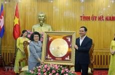 Delegación de la Asamblea Nacional de Camboya visita provincia vietnamita de Ha Nam