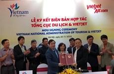 Firman la Administración del Turismo de Vietnam y Vietjet Air un memorando de cooperación