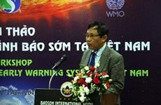 Evalúan expertos internacionales sistema de alerta temprana ante desastres naturales en Vietnam