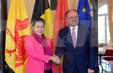 Presidenta de Asamblea Nacional de Vietnam continúa actividades en Bélgica