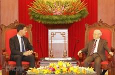 Máximo dirigente vietnamita recibe al premier neerlandés