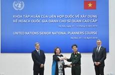 Concluye en Vietnam curso de capacitación para altos funcionarios de mantenimiento de paz