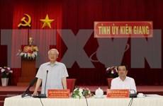 Insta máximo dirigente político de Vietnam a Kien Giang a aprovechar potencialidades económicas