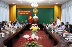 Delegación parlamentaria estadounidense visita provincia survietnamita