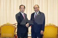 Premier vietnamita recibe al líder del Partido Liberal Democrático de Japón