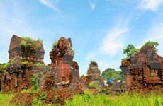 Completan restauración de torres en el santuario My Son con ayuda india