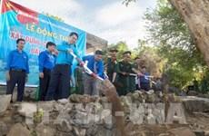 Se erige en isla vietnamita de Tho Chu torre de la bandera