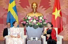 Resalta presidenta del Parlamento de Vietnam la amistad de medio siglo con Suecia