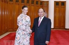 Recibe premier vietnamita a la princesa heredera de Suecia