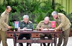 Acuerdan Vietnam y Cuba fortalecer cooperación en defensa