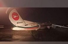 Resultan heridas 11 personas tras accidente de avión bangladesí en aeropuerto de Myanmar