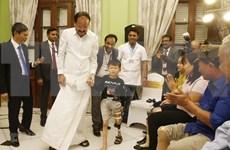 Vicepresidente indio inaugura taller de prótesis Jaipur Foot en Vietnam