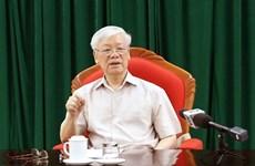 Secretario general del Partido y presidente vietnamita se reúne con dirigentes claves