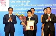Entregan en Vietnam premios a científicos destacados