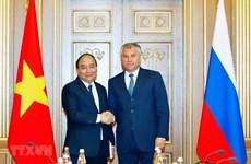 Primer ministro de Vietnam sostiene reuniones con dirigentes parlamentarios de Rusia