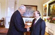 Dialoga Premier de Vietnam con el Rey Harald V de Noruega