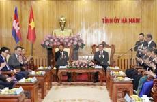 Presidente de la Asamblea Nacional camboyana recorrió la provincia de Ha Nam durante su visita a Vietnam