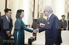 Recibió la vicepresidenta de Vietnam al gobernador del estado australiano de Queesland