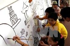 Celebran en Hanoi concurso de pintura por motivo del Día Internacional  del Niño