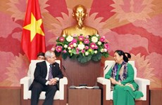 Vicepresidenta de Asamblea Nacional de Vietnam recibe a una delegación parlamentaria de Cuba