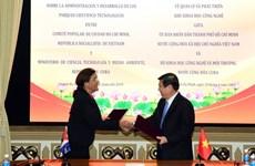 Ciudad vietnamita y Cuba firman memorando de cooperación en ciencia y tecnología
