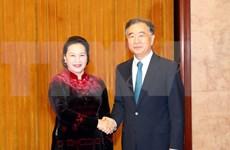 Dialoga presidenta de parlamento de Vietnam con titular de la Conferencia Consultiva Política del Pueblo Chino