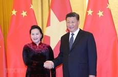 Presidenta legislativa de Vietnam se reúne con máximo dirigente de China