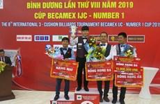 Finaliza billarista vietnamita segundo en Torneo Internacional de carambola de tres bandas