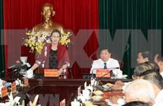 Insta presidenta del Parlamento de Vietnam a Vinh Long a desarrollar la agricultura