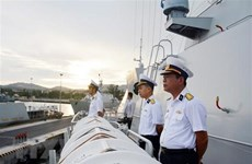 Fragata de la Armada vietnamita inicia visita a Rusia