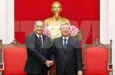 Proyectan partidos de Vietnam y Laos incrementar intercambio de estudios teóricos