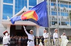 Izan bandera de la ASEAN en Laos para celebrar 52 años de su fundación