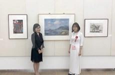 Exhiben obra de alumna vietnamita en Museo de Bellas Artes de Japón