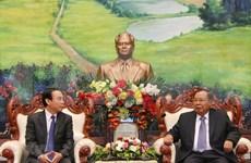Robustecen Vietnam y Laos nexos partidistas