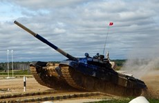 Ocupa Vietnam el segundo lugar en biatlón de tanques durante Juegos Militares Internacionales