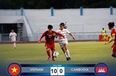 Vietnam comienza Campeonato regional de fútbol femenino con victoria contundente ante Camboya